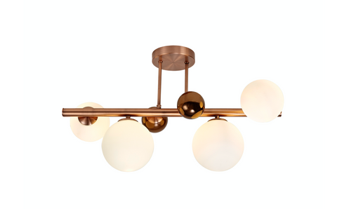 Neptune 4lt Semi-Flush Ceiling Light - Copper