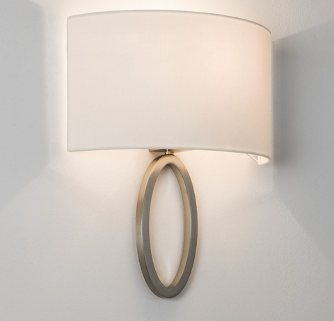 Lima 1lt Matt Nickel Wall Lamp