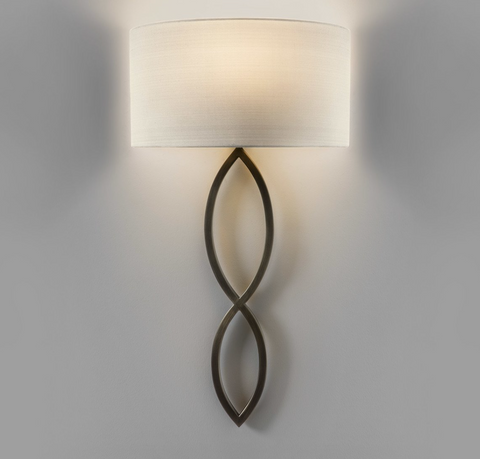 Caserta 1lt Bronze Wall Lamp