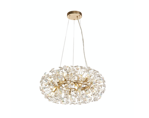 Starburst 12lt Pendant - French Gold