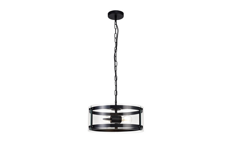 Accord 2lt Matt Black Pendant