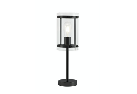 Accord 1lt Matt Black Table Lamp