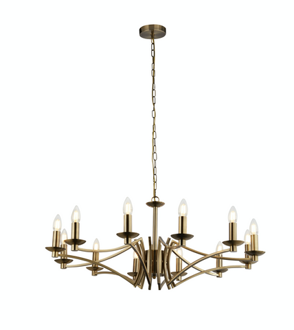 BOUND 12LT PENDANT - ANTIQUE BRASS