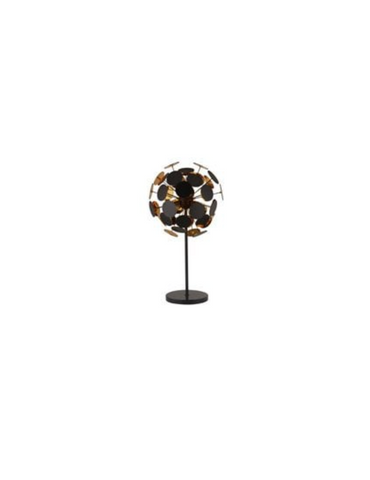 DISCUS 3LT BLACK/GOLD TABLE LAMP