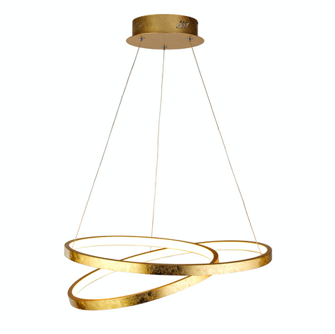 Swirl LED Gold Pendant