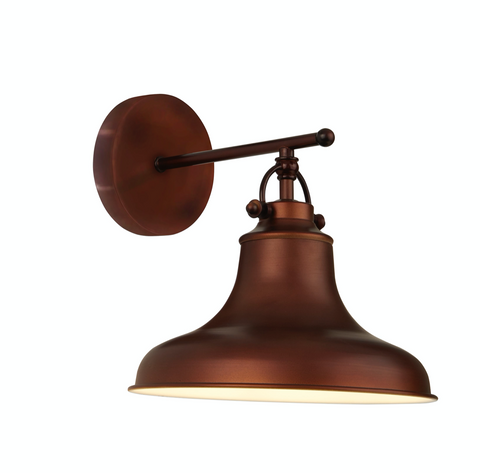 DALLAS 1LT INDUSTRIAL WALL LIGHT, ANTIQUE BROWN
