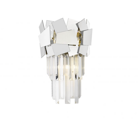 CELINE CRYSTAL AND CHROME 1 LT WALL LIGHT