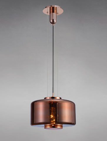 Blake Copper Glass 40cm Round Pendant