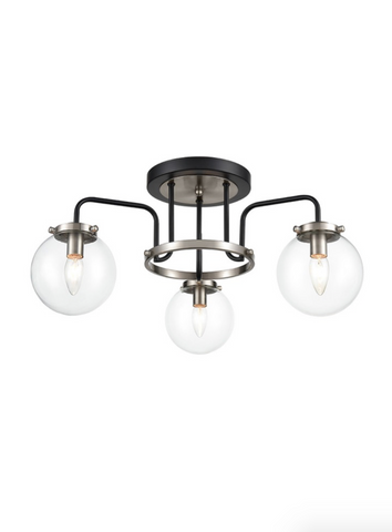 Atom 3lt Semi Flush Ceiling Light