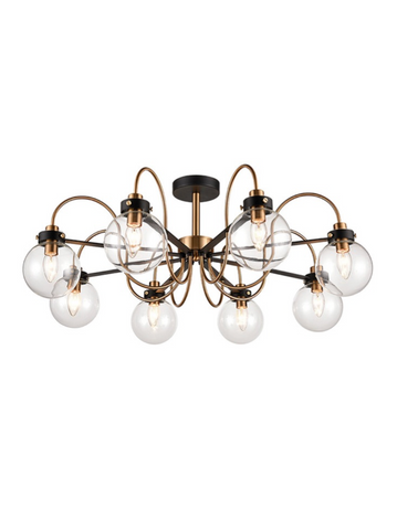 Lunar 8lt Semi-Flush Ceiling Light