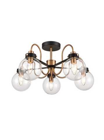 Lunar 5lt Semi-Flush Ceiling Light