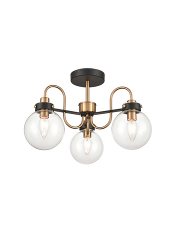 Lunar 3lt Semi-Flush Ceiling Light