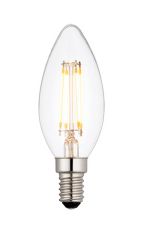 Candle Bulb 4 Watt LED E14 Warm White