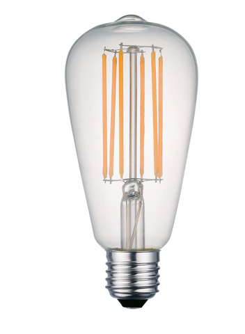 Pack of 4 LED 6 Watt Squirrel E27 Clear Glass Filament Lamps