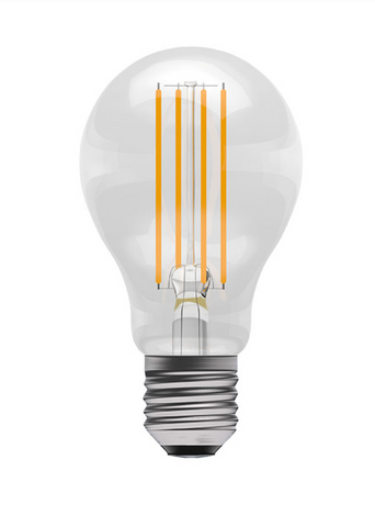 PACK OF 8 LED 6 WATT E27 CLEAR FILAMENT BULBS - COOL WHITE