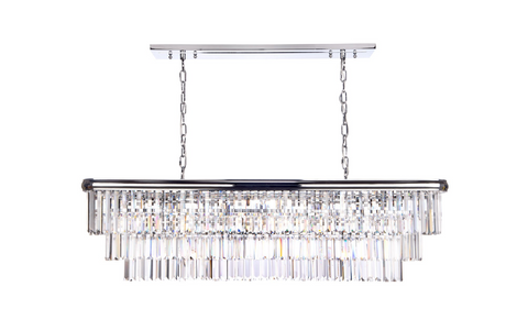 Eulalia 10 Light Chandelier Polished Chrome Crystal