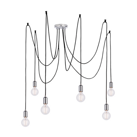 Studio 6 Light Polished Chrome Pendant