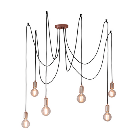 Studio 6 Light Copper Pendant