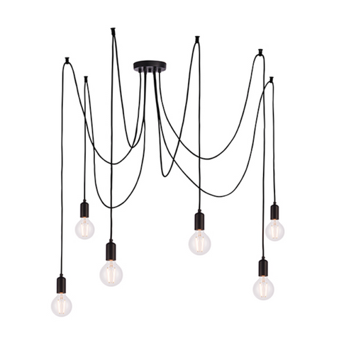 Studio 6 Light Matt Black Pendant
