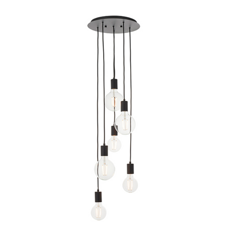 Studio 6 Light Black Cluster Pendant