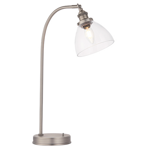 Hansen Brushed Silver Table Lamp