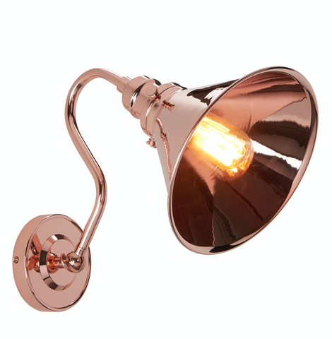 Provence Polished Copper Wall Light