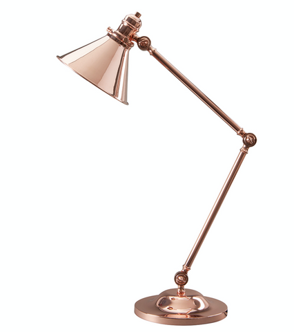 Provence Polished Copper Table Lamp