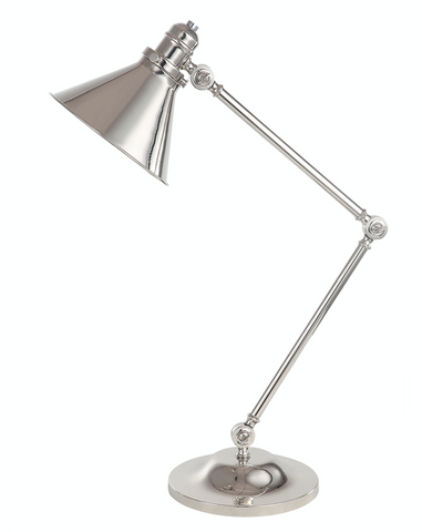 Provence 1 Light Table Lamp – Polished Nickel