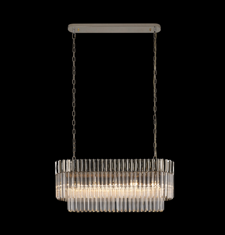 Loronzo 5 Light Polished Nickel Bar Pendant