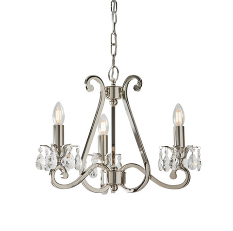 Oksana Polished Nickel 3lt Pendant -Fitting Only