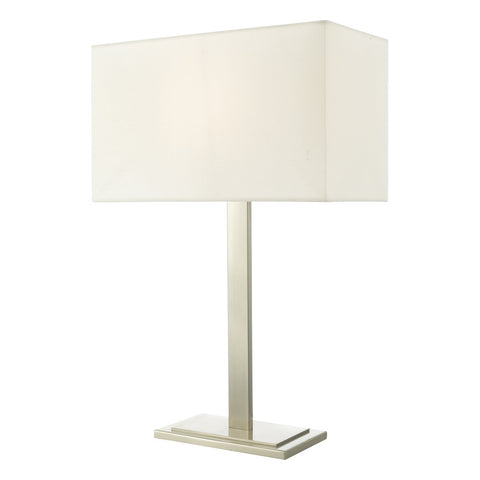 Tegal Table Lamp Satin Nickel With Shade