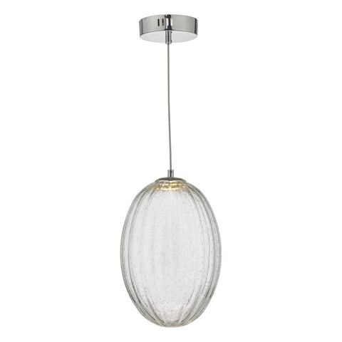 Tyona Pendant Glass & Polished Chrome LED