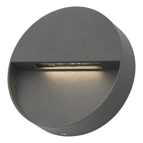 Ugo 1 Light Wall Light Round Eyelid Anthracite IP65 LED