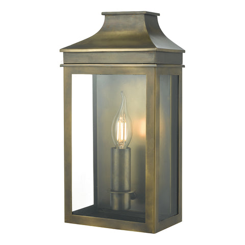 Vapour Coach Lantern Wall Weathered Brass IP44