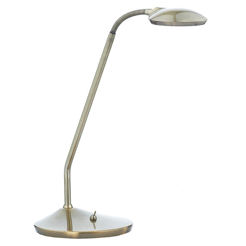 Wellington Table Lamp Antique Brass Led