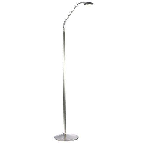 Wellington Floor Lamp Satin Chrome Led