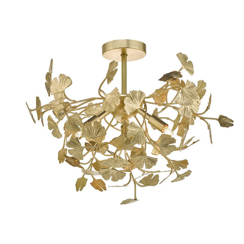 Yadira 4lt Semi Flush Gold Effect