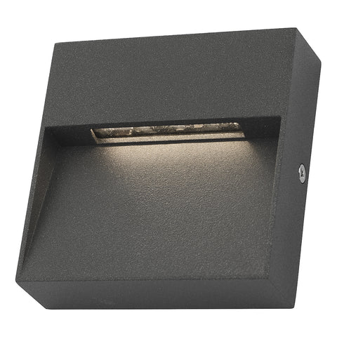 Yukon 1 Light Wall Light Square Eyelid Anthracite IP65 LED