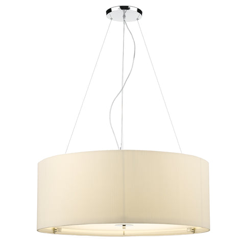 Zaragoza 6 Light Pendant Cream 90CM
