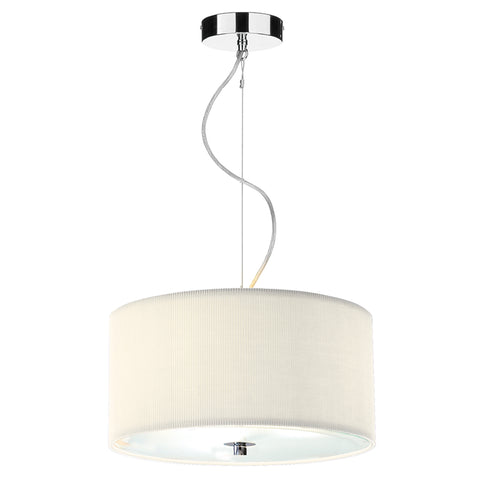Zaragoza 3 Light Pendant Cream 400MM