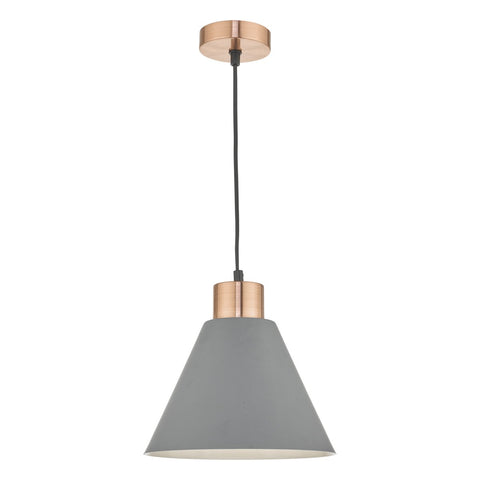 Zocalo 1lt Pendant Grey & Copper