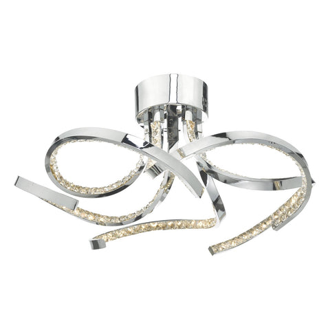 Zya 5lt Flush Polished Chrome & Crystal LED