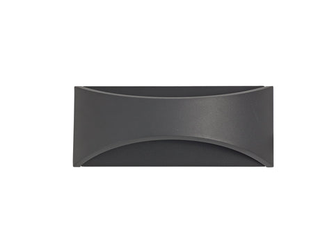 Aryana Up & Downward Lighting Wall Light 6W LED 3000K, Anthracite, 375lm, IP54, 3yrs Warranty
