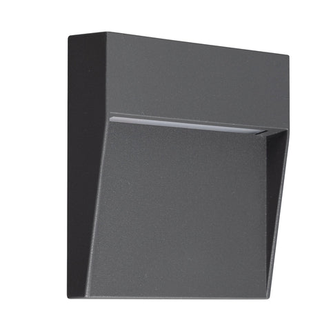 Baker Wall Lamp Small Square, 3W LED, 3000K, 150lm, IP54, Anthracite, 3yrs Warranty