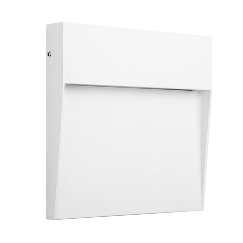 Baker Wall Lamp Large Square, 6W LED, 3000K, 266lm, IP54, Sand White, 3yrs Warranty
