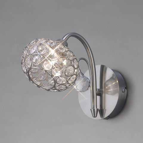 Cara Brushed Nickel Wall Light