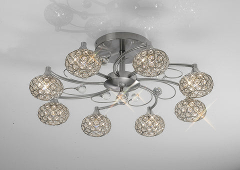 8 Light Cara Brushed Nickel