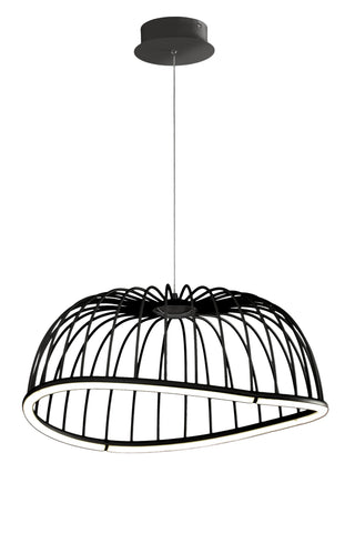 Celeste Pendant 61cm Round, 30W LED, 3000K, 2100lm, Black, 3yrs Warranty