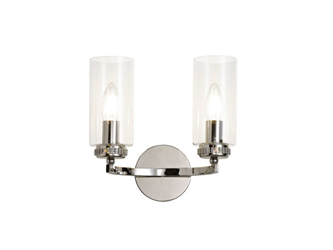 Clara 2lt Wall Lamp - Polished Nickel