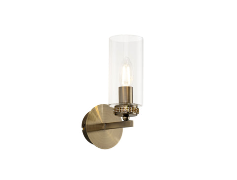 Clara 1lt Wall Lamp - Antique Brass